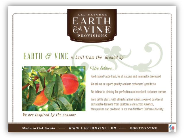 Earth & Vine's Powerpoint presentation