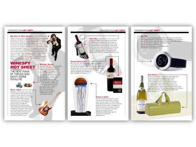 WineSpy 3 page Hot Sheet layout