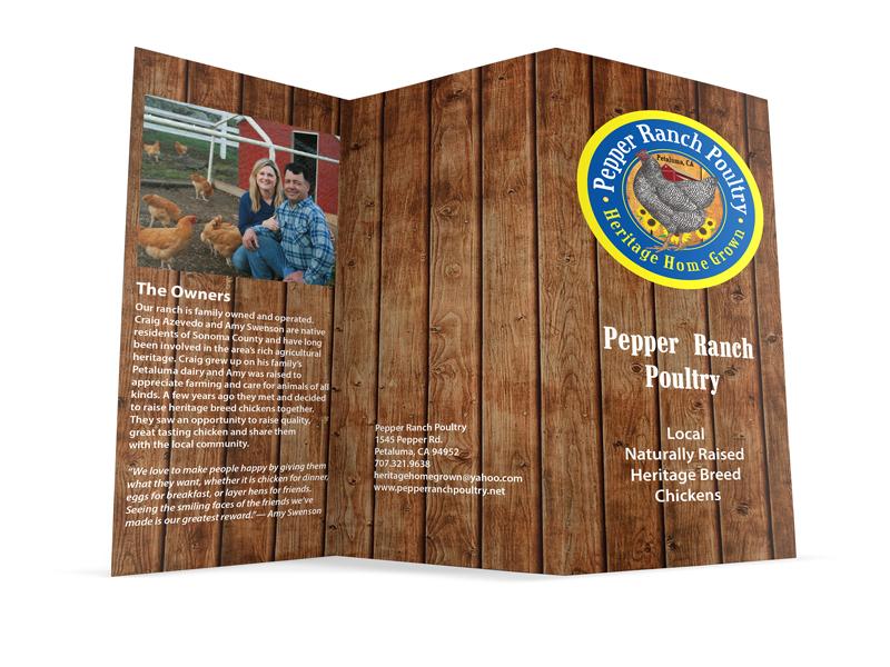Pepper Ranch tri-fold brochure