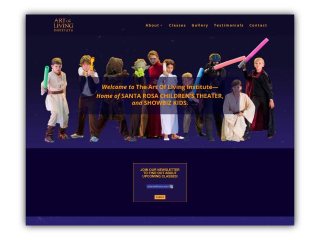 Art of Living Institute's website