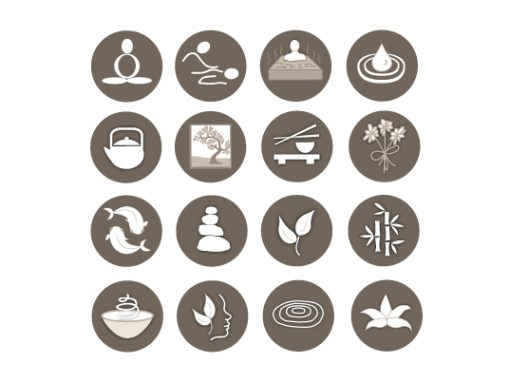 Osmosis Day Spa custom vector icons