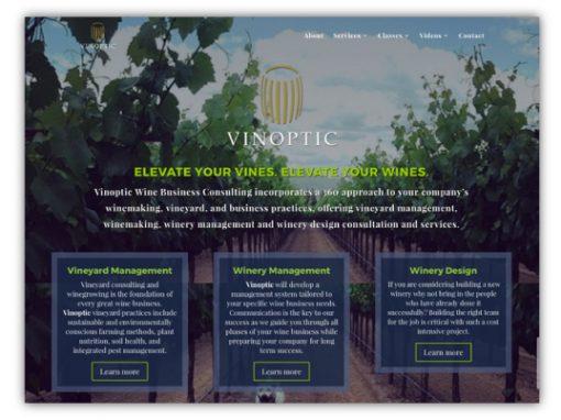 Vinoptic's website